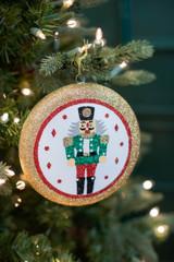 15 CM Glitter Nutcracker Disc Ornament