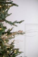 "30"" Glitter Berry Spike/Twig Christmas Tree Spray Champagne"