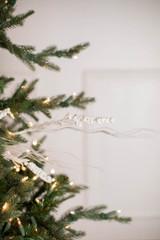 "30"" White Glitter Berry Spike/Twig Christmas Tree Spray"