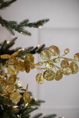 "29"" Glitter Mini Lotus Christmas  Sprays Gold"