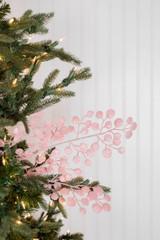 "29"" Glitter Mini Disc Christmas Tree Spray Pink"