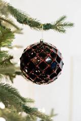 10 CM Honeycomb Ball Ornament Dark Red