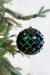 12 CM Emerald Honeycomb Christmas Ball Ornament