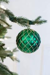 100 MM Matt Quilted Glitter Net Ball Ornament