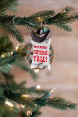"3.75"" Resin Cowboy Greeting Ornament"