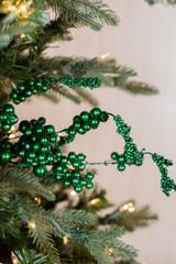 "18"" Metallic Dew Berry Christmas Spray - Emerald"