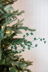 "30"" Metallic Mini Pomegranate Christmas Spray - Emerald"