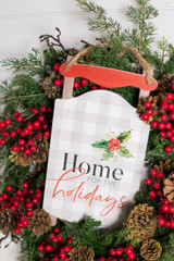 """14"""" Home For The Holidays Sled Wall Decor Wreath Attachment"""