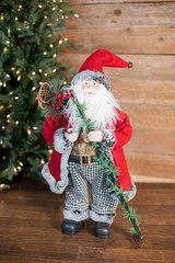 """24"""" Holiday Santa with Houndstooth Pants Figurine"""