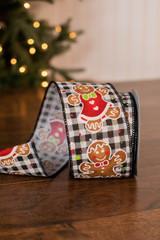 "2.5"" x 10 Yard Gingerbread Ribbon"