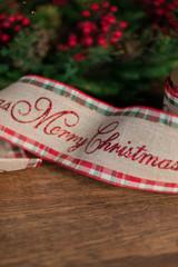 """4"""" x 10 Yard Plaid Merry Christmas Ribbon"""