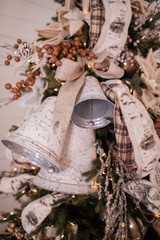 White Washed Rustic Bell Set