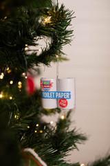 Toilet Paper Sanitary Items Covid Christmas Ornament