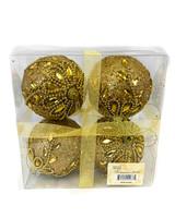 """3.5"""" Christmas Ball Ornament - Set Of 4"""