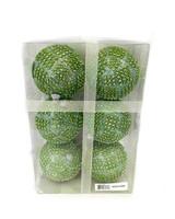 """3.5"""" Mint Sequin Ball Ornament - Set Of 6"""