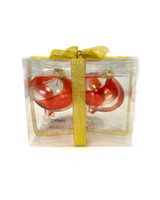 "4"" Swirl Clear Shatterproof Top Ornament - Set Of 2"