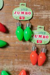 Green Christmas Bulb Lotsa Lites Jumbo Earrings