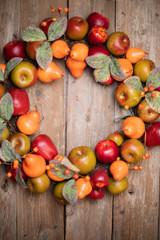 "20"" Fruit Fall Wreath"