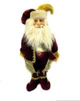 "24"" Burgundy Christmas Standing Elf"