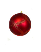 """6"""" Red Scalop Pattern Ornament"""