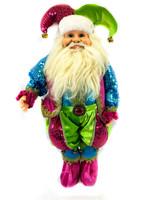 Color Jester Standing Elf Santa