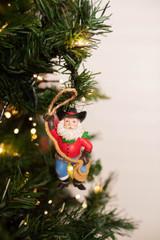 Cowboy Santa Ornament