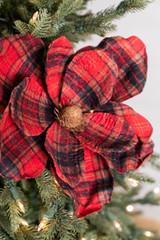 """22"""" Plaid Magnolia Stem"""