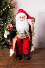 """24"""" Standing Santa Red Robed W/ Staff/Tree"""