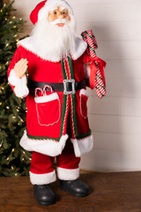 """36"""" Standing Santa Red Coat W/ Candy Canes"""