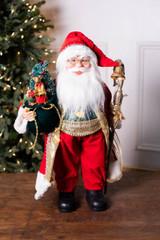 "18"" Standing Santa with Plaid Vest"