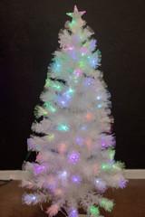 5' Fiber Optic Snowflake Tree
