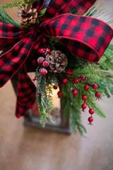 Fall Lanterns to Christmas Lantern Decor