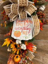 5 Steps to Craft a Fall Swag For Your Home