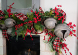 Creating a Farmhouse Mantle with Christmas Bell Garland