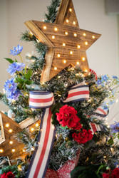 Fourth of July Decor and a Patriotic Christmas Tree
