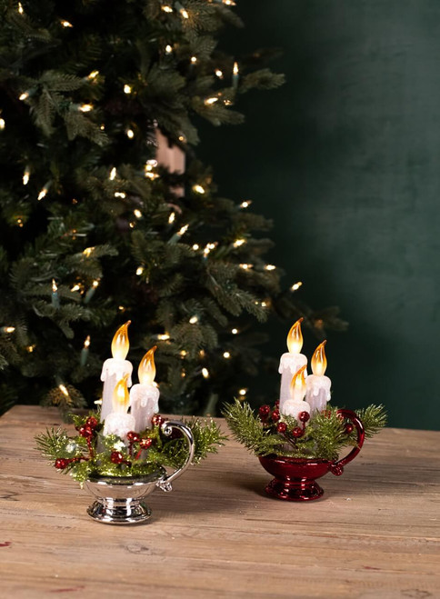 Acrylic Light Up Candle Center Pieces