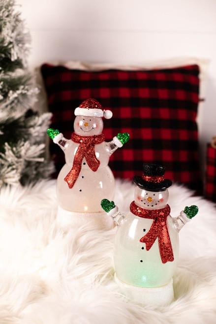 Acrylic Light Up Snowman