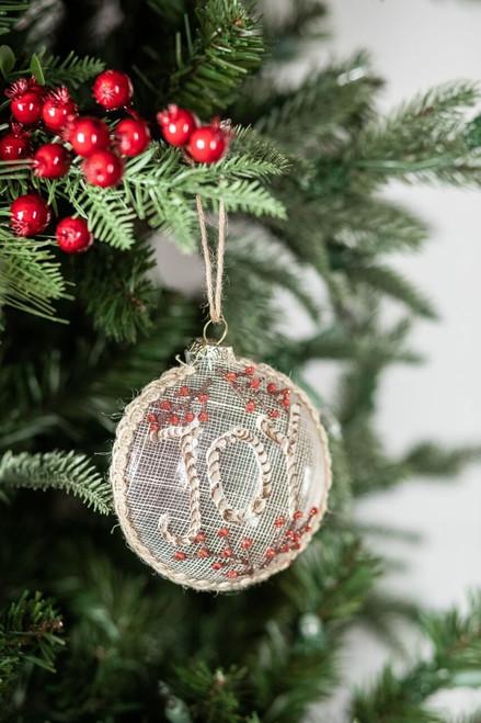Glass Joy Christmas Tree Ornaments
