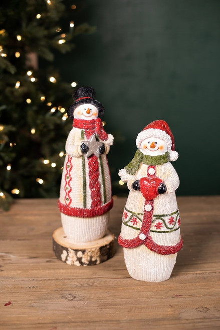 Resin Knitted Snowman
