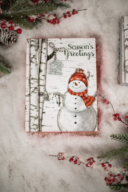 Snowman Christmas Block