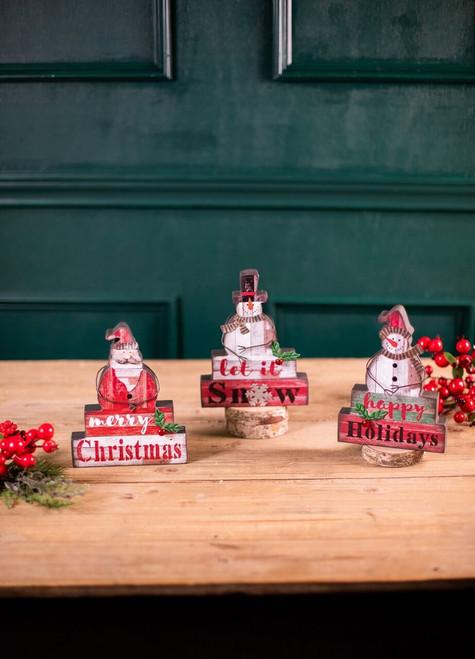 Santa / Snowman Block Décor