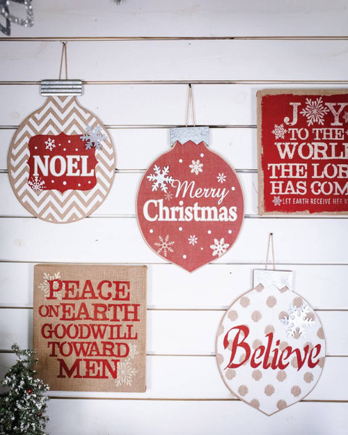 Burlap Ornament Wall Hangings