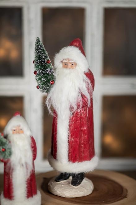 Vintage Santa with Tree