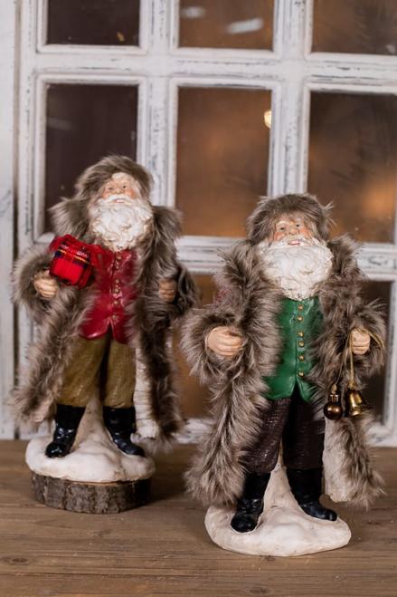 Plaid Fur Coat Santas