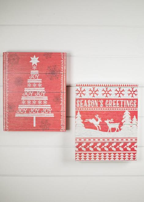Red / White Christmas Wall Art