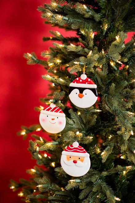 Flat Christmas Character Christmas Tree Ornaments