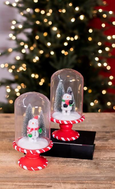 Resin Glass Snowman Cloche