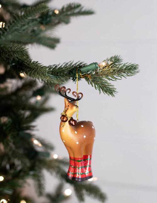 Jingle Bell Reindeer Christmas Tree Ornaments