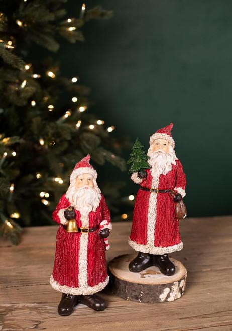Resin Nostalgia Santa Figurines