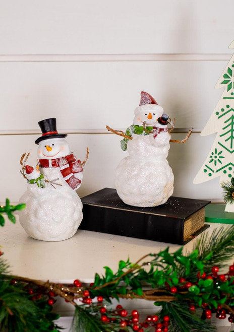 Resin Snowman Figurine